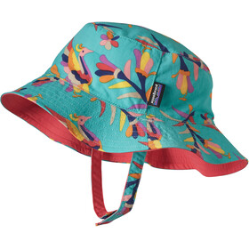 Patagonia Sun Bucket Hat Baby Folk Tails: Howling Turquoise